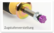 Zugstufenverstellung